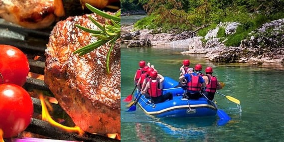 Firmenevents Rafting & Grillen